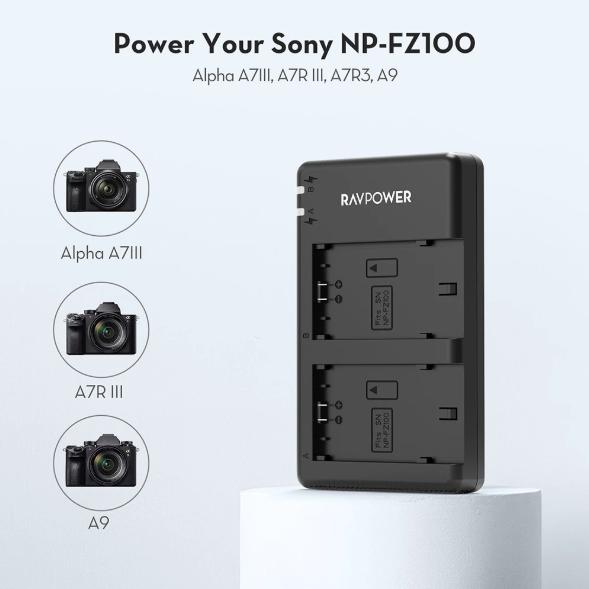 พรีวิว Rav Power NP-FZ100 แบตเตอรี่ สำหรับ Sony A7 III, Sony A7R III, Sony A7R IV, Sony A9