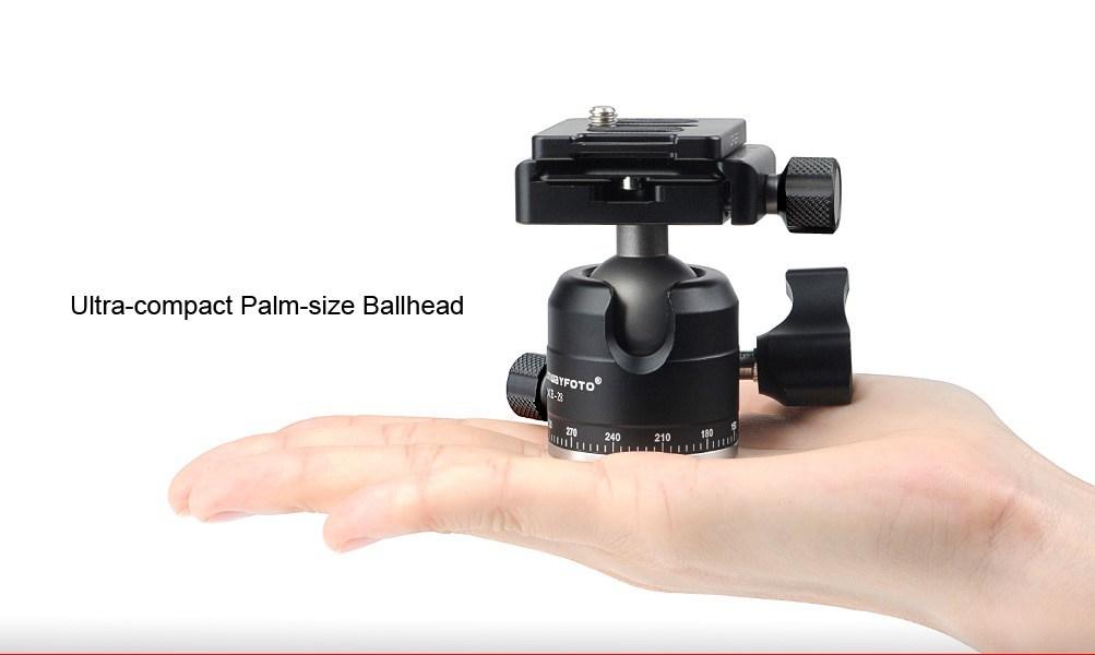 พรีวิว Sunwayfoto T1A20D-T II ขาตั้งกล้องถ่ายภาพขนาดเล็กพร้อม Ball Head
